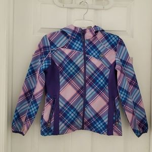 🎀Girls midweight hooded jacket w/ soft lining.